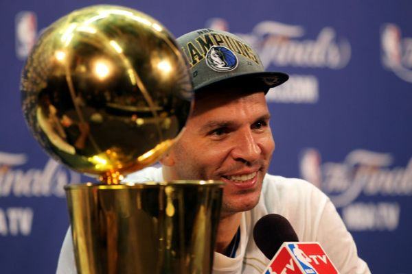 Photo: (13dv4tpbi) Jason Kidd #2 Of The Dallas Mavericks Answers Getty Images