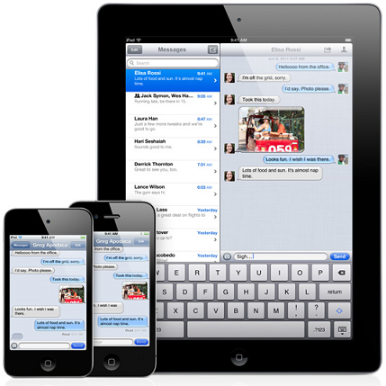Apple iMessage iMessage, el BBM killer de Apple
