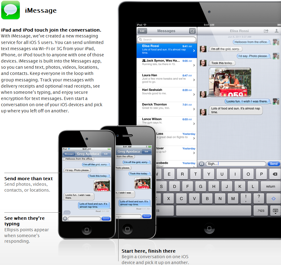 iMessage iMessage, el BBM killer de Apple
