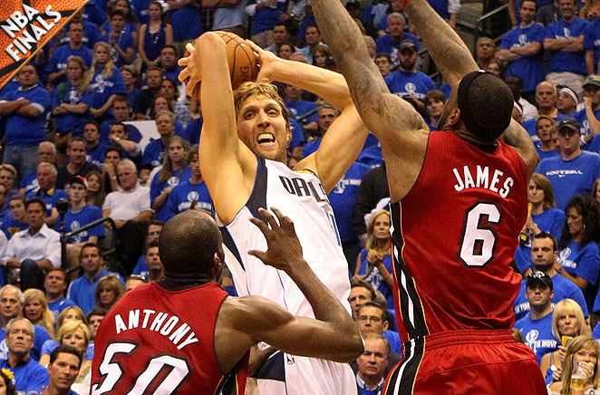 Joel Anthony, Dirk Nowitzki, LeBron James