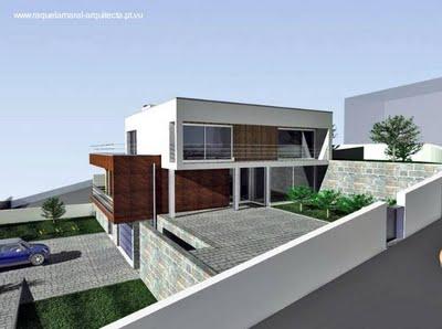Casa en desnivel estilo contempor neo - Terreno con casa ...