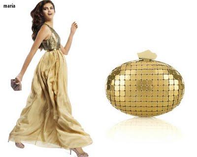 Combinar vestido dorado para boda