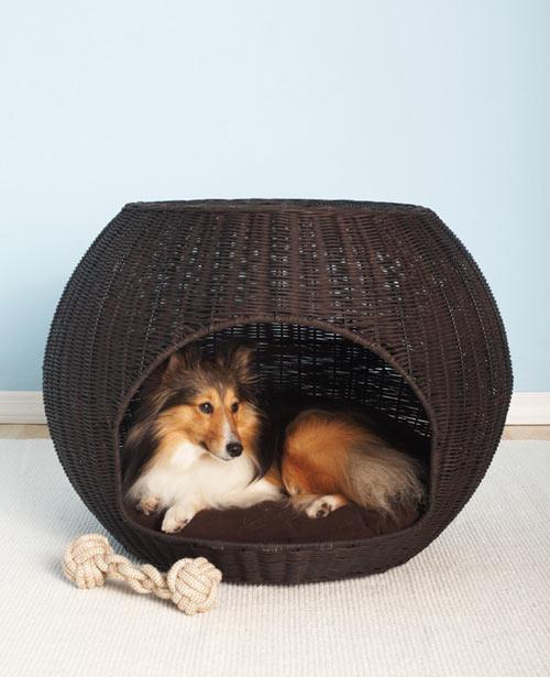 Wicker Dog Bed Basket Tbs