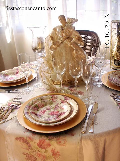 Decoraci n mesa navidad dorada - Decoracion de navidad para la mesa ...