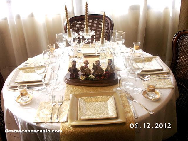 Decoraci n mesa de navidad elegance for Mesa de navidad elegante