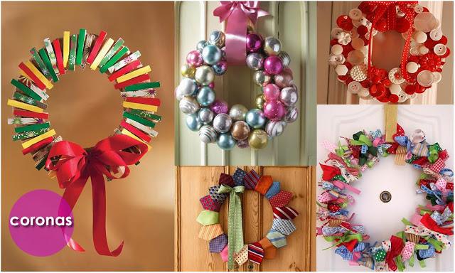 Viste tu casa de navidad adornos y centros de mesa for Arreglos navidenos para puertas