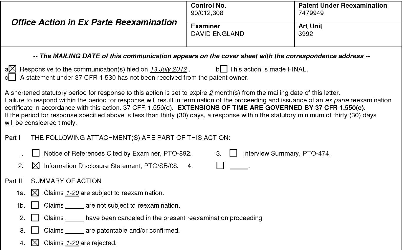 La oficina de patentes de ee uu clasifica la patente de for Oficina de patentes