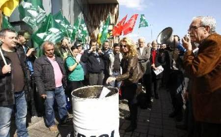Manifestación en españa contra la reforma laboral