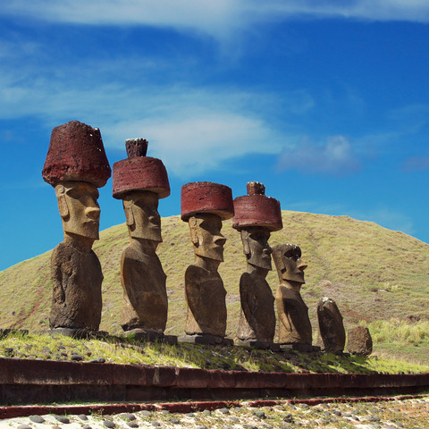 Tamaño Isla de Pascua Moais de la Isla de Pascua