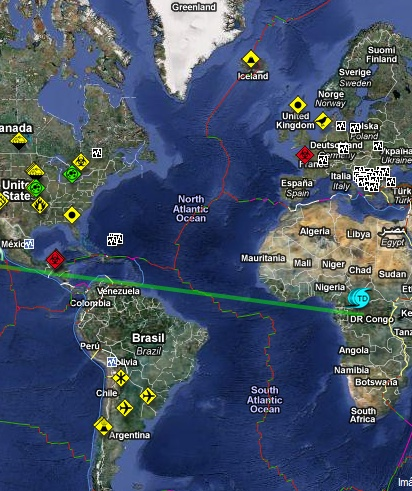 el mapa de todo el mundo:
