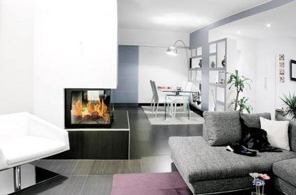 Decoraci n minimalista para pisos de estilo estudio for Decoracion piso gris
