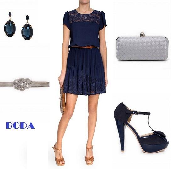 0ae457e11 Zapatos y complementos para un vestido azul marino – Vestidos madrina