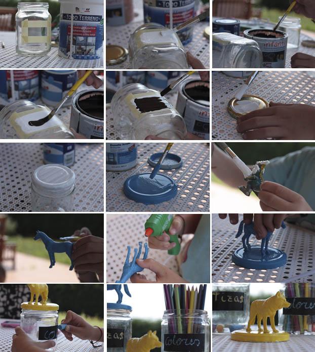 Reciclar botes de cristal y peque os juguetes - Comprar tarros de cristal pequenos ...