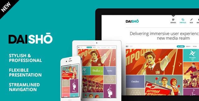 Daisho, tema WordPress para portafolios