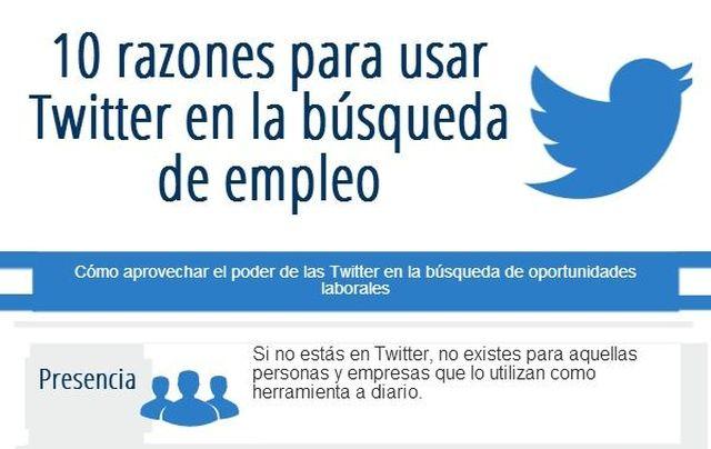 04ebf94917 Infografía con 10 razones para usar Twitter en la búsqueda de empleo