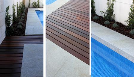 Jardin de dise o con piscina for Diseno futurista para un jardin con piscina