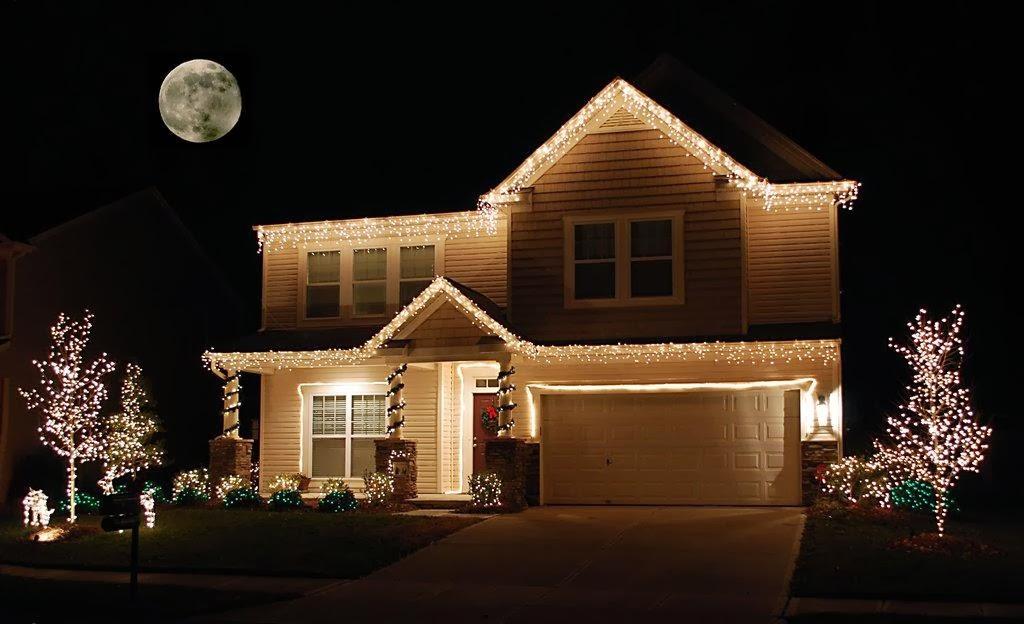 Las luces en navidad - Iluminacion con leds en casas ...