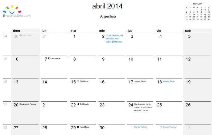 Genera e imprime tu calendario para el 2014 y más allá, en tu idioma ...