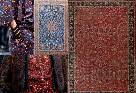 herm s se inspira en alfombras iran es para sus creaciones