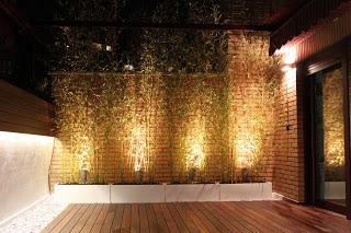 Un jard n en el tico con iluminaci n - Iluminacion para exteriores jardines ...