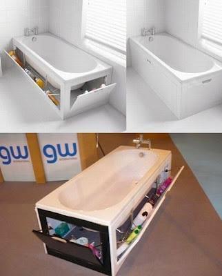 Ahorra espacios para baño