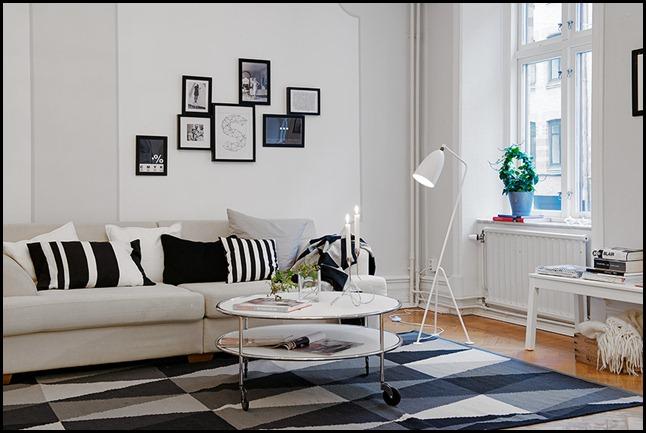 Deco blanco y negro for Corredor deco blanco y negro