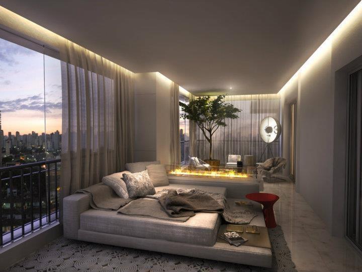 La iluminaci n en los techos modernos for Lampara de piso minimalista