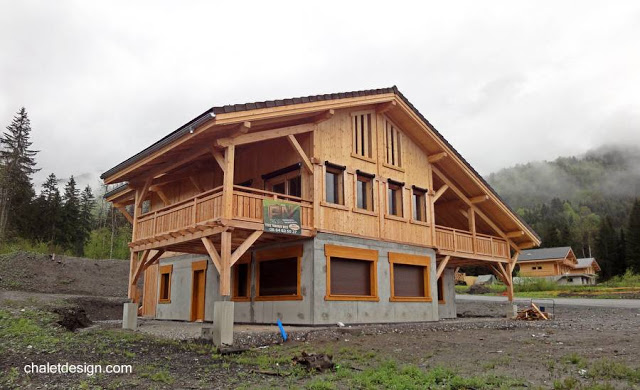 La casa chal dise o y estilo - Casas de madera y cemento ...