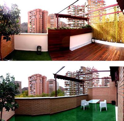 Dise o de jardines fotos del antes y despu s - Reformar terraza atico ...