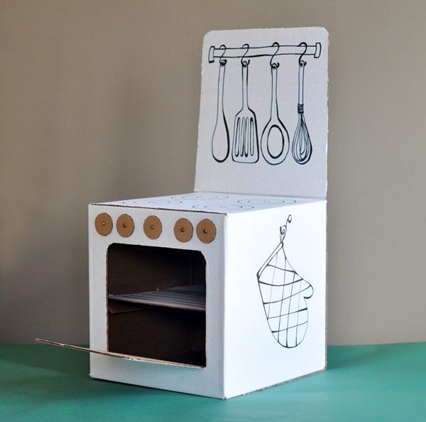10 manualidades para ni os con cajas de cart n - Manualidades cocina para ninos ...