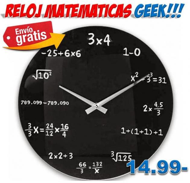 Reloj de pared matem ticas dise o geek regalos hogar - Reloj pared diseno ...