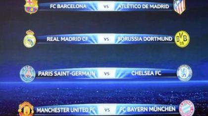 Resultado del sorteo de cuartos de final de la Champions League