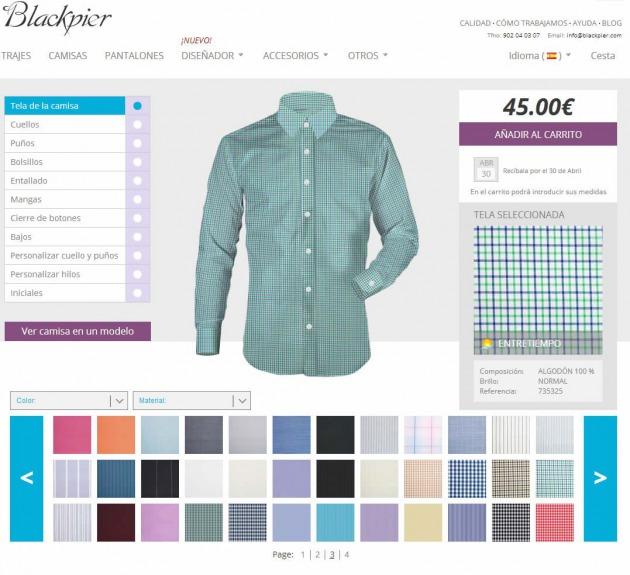 La sastrería online Blackpier lanza un diseñador de camisas 3D que ... 7fad9a8d8ce40