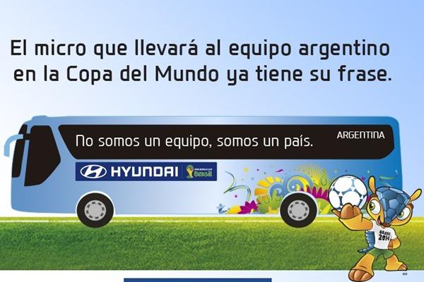 La Frase Del Micro De La Selección Argentina Para El Mundial