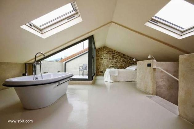 Modernos ba os integrados al dormitorio for Diseno de habitacion con bano privado