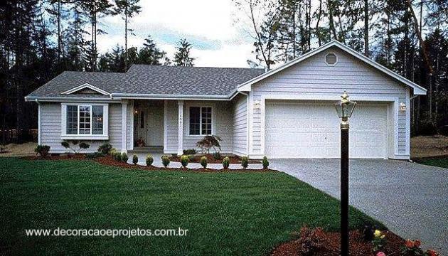Las casas americanas modernas for Planos de casas americanas