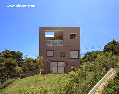 Casa doble c bica japonesa minimalista en faldeo de monta a for Casa minimalista japonesa