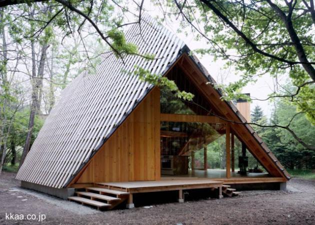 Caba a moderna de madera dise o innovador - Cabanas modernas ...