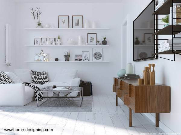 Diseños de interiores y decoraciones de interior.