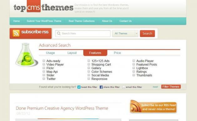 Top CMS Themes: enorme colección de temas para WordPress