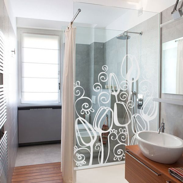 Ideas para decorar tu ba o con vinilos decorativos y - Cristales para paredes ...