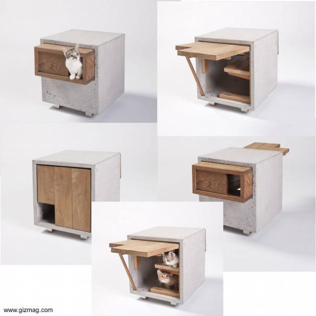Casas para gatos dise os de arquitectos - Casas para gatos de madera ...