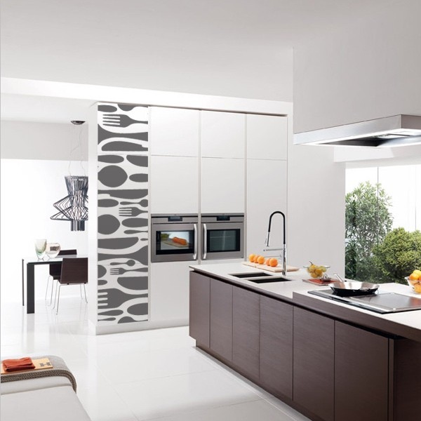 Vinilos decorativos y fotomurales para tu cocina - Paredes de cocina sin azulejos ...