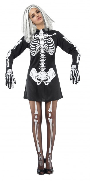 disfraz de esqueleto para halloween mujer