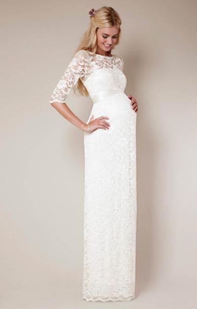 Vestidos de novia para embarazadas 2016
