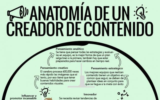 Creador de Contenidos, esta es su anatomía (infografía)