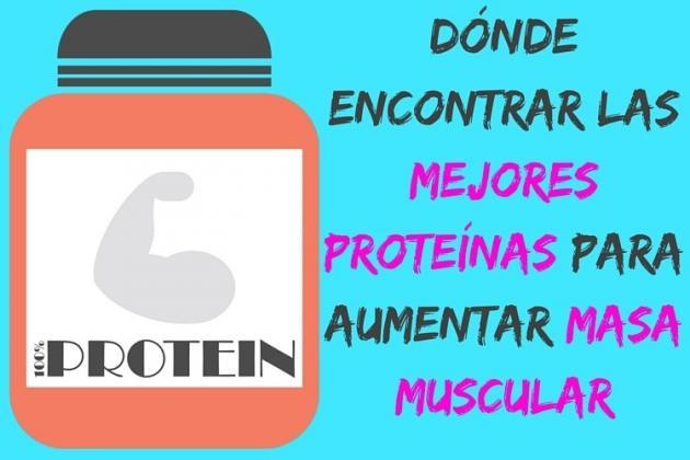 Dónde encontrar las mejores proteínas para aumentar masa