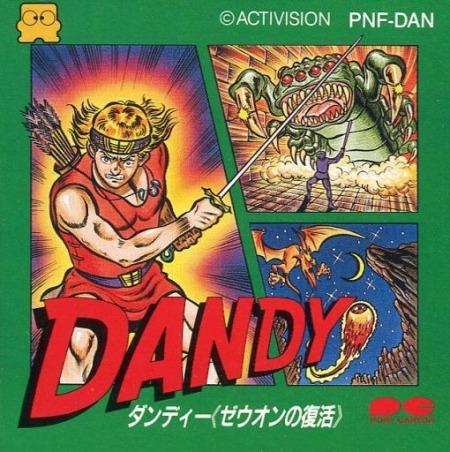 Imagen del juego Dandy: Zeuon No Fukkatsu de Famicom Disk System traducido al inglés
