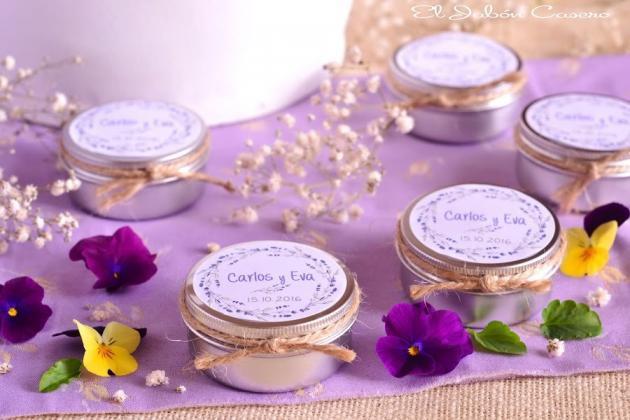 Detalles con aroma a lavanda velas personalizadas para bodas - Aromas para velas ...