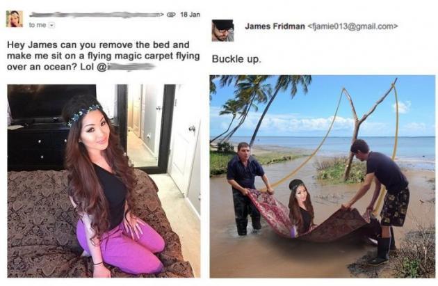 Humor 13 nuevas v ctimas del despiadado maestro del for Cama voladora